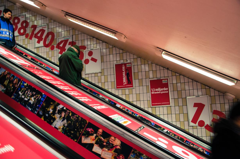 Rulltrappa i Stockholm till tunnelbanan
