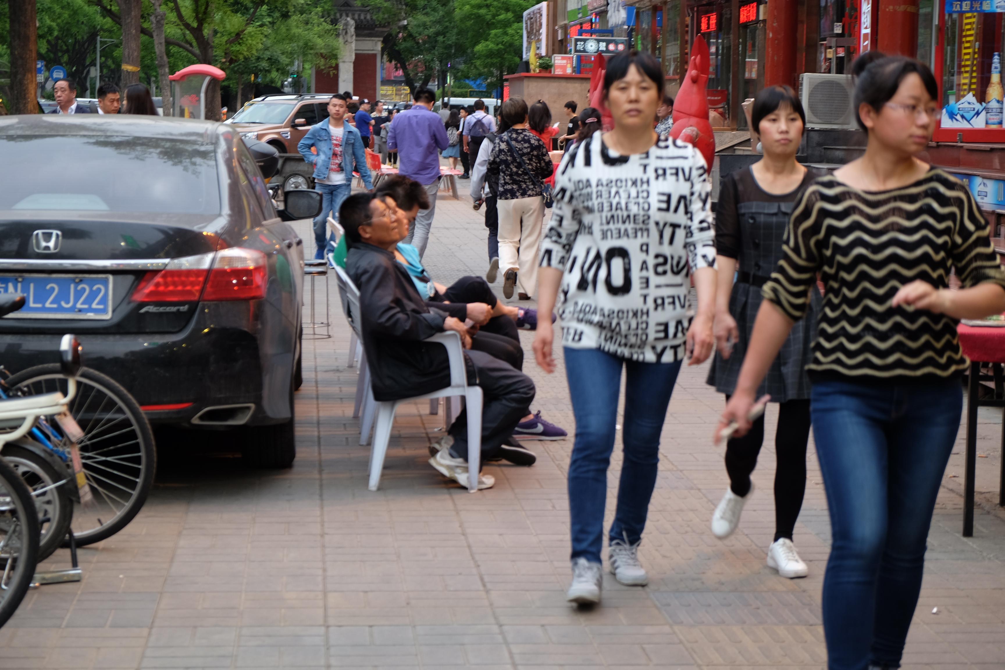 Promenadstråk i Beijing