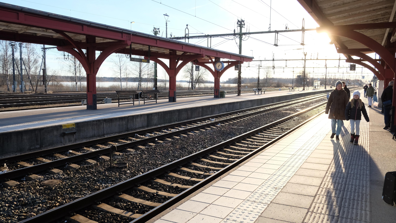 Tågstationen i Alvesta