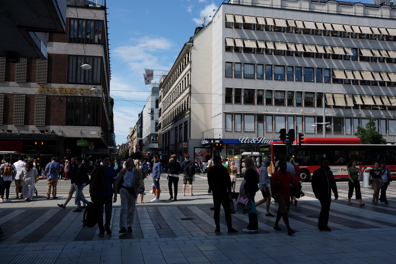 Varuhus på Drottninggatan i centrala Stockholm